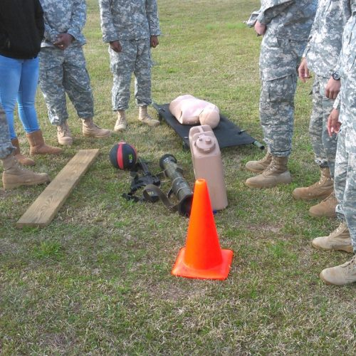 Cadets in training exercise.