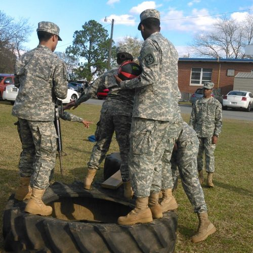 Cadets complete problem solving exercise.