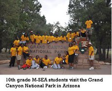 10ths Grade M-SEA students visit the Grand Canyon National Park in Arizona.