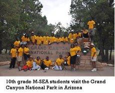 10ths Grade M-SEA students visit the Grand Canyon National Park in Arizona.