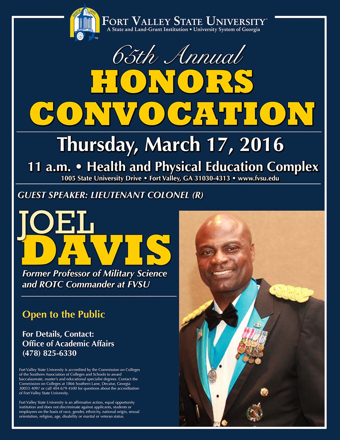 Honors Convocation flyer