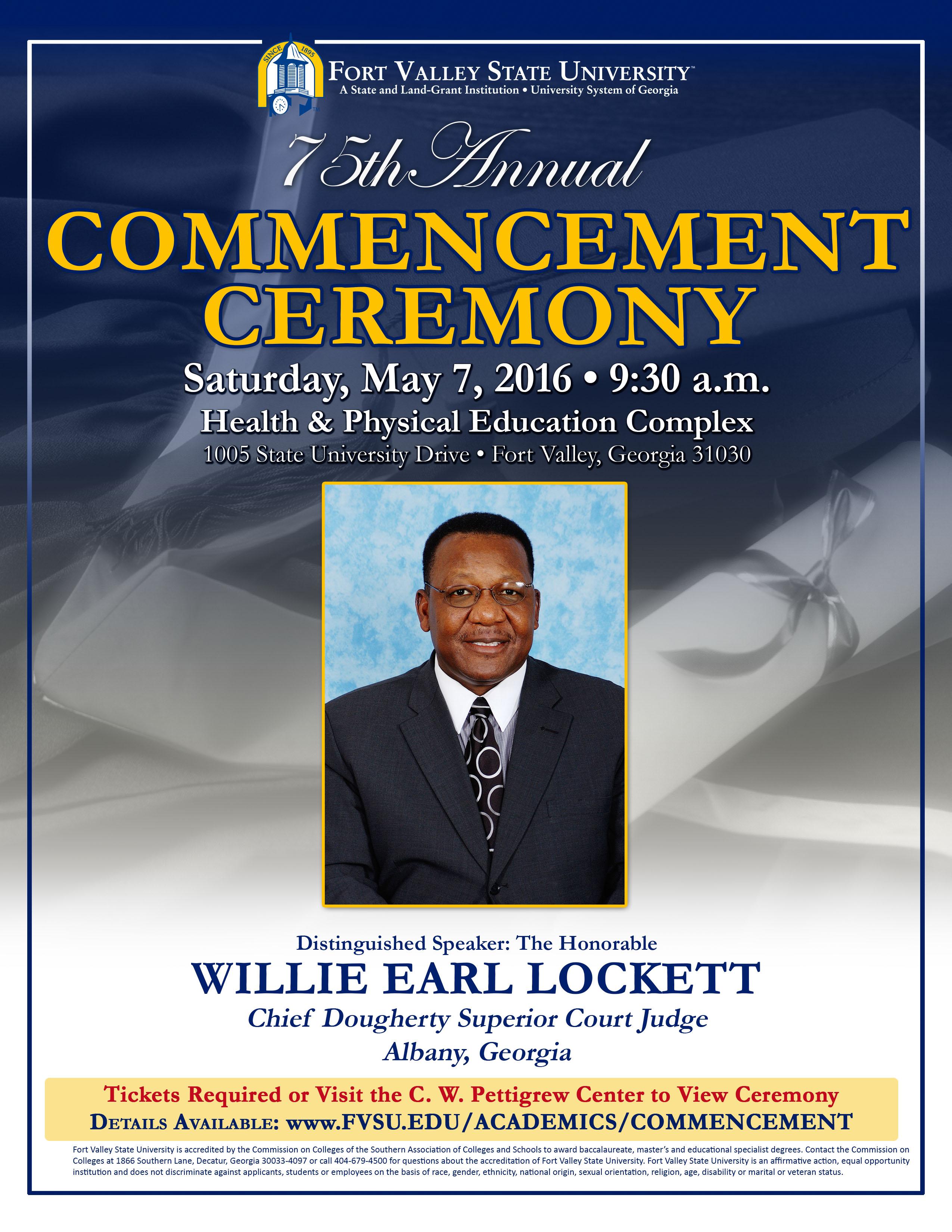 Willie Lockett Commencement