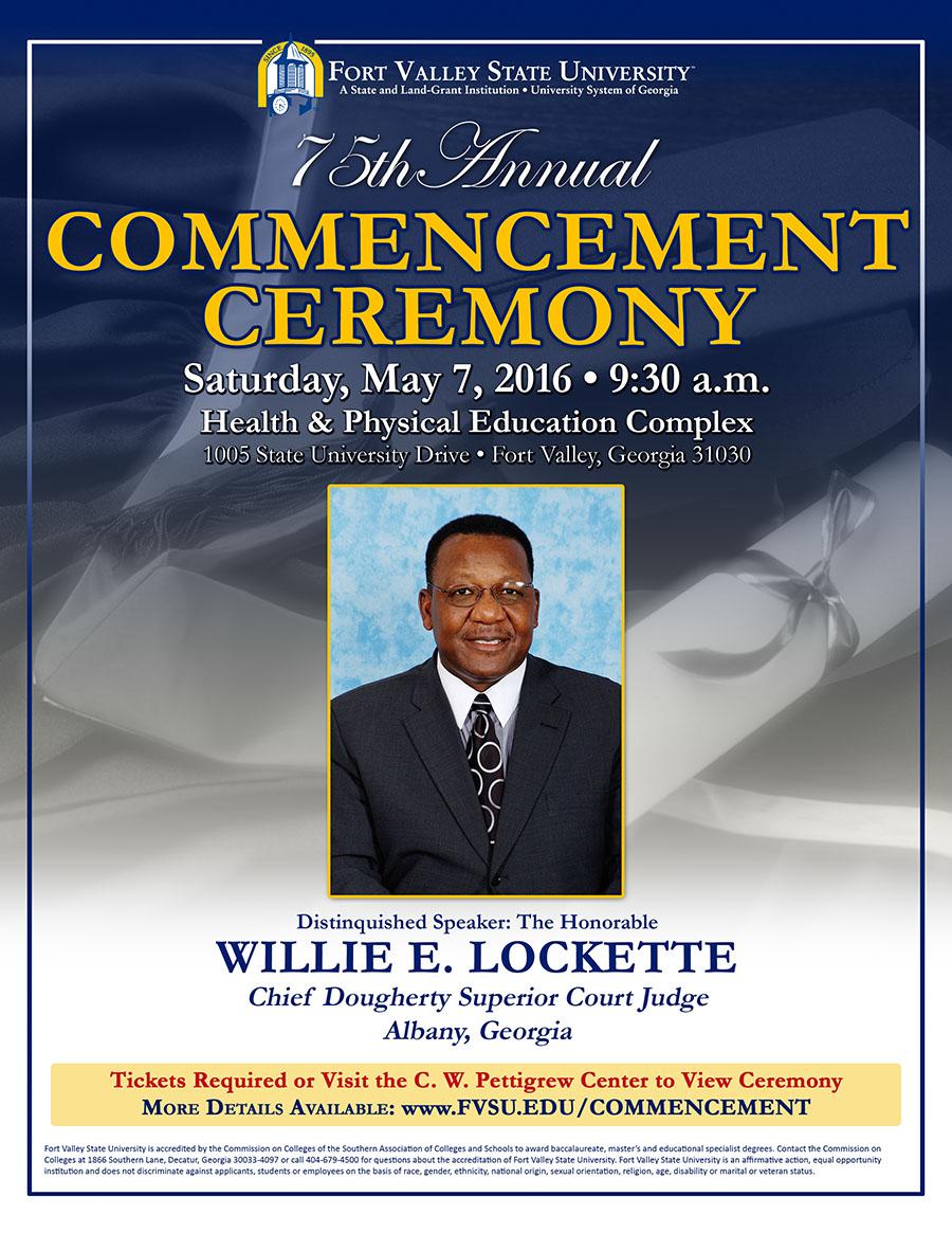 Willie Lockette Commencement Flyer