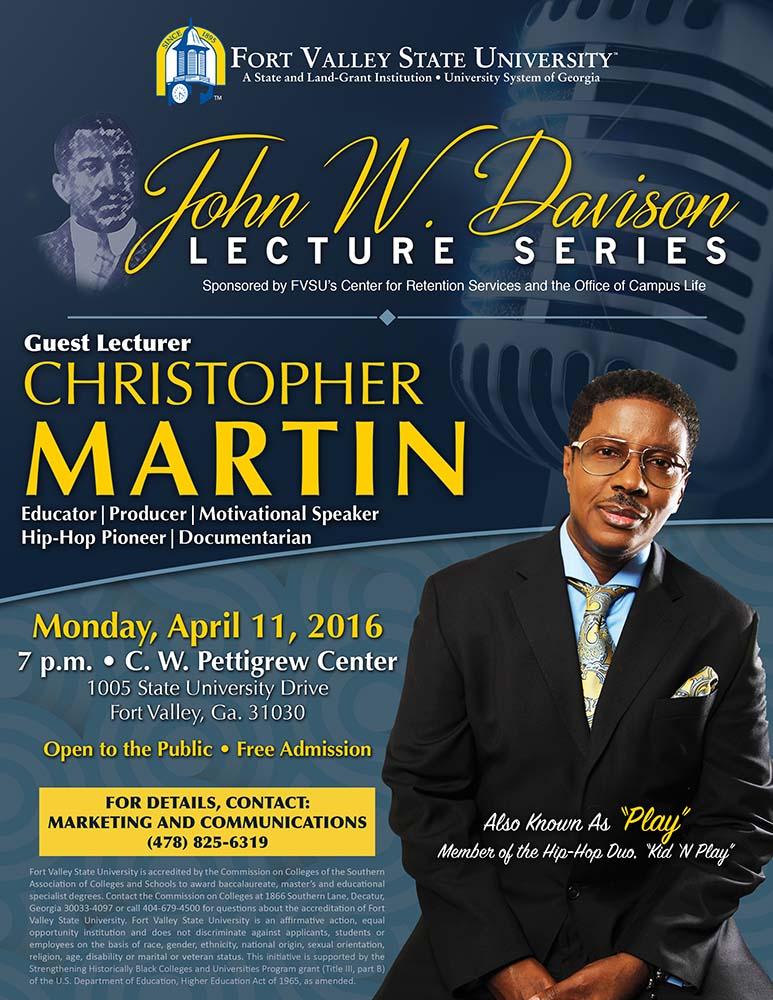 John W. Davison lecture series flyer