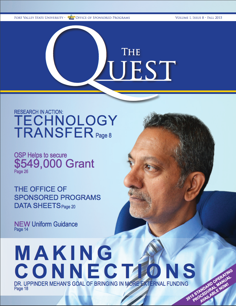 The Quest Magazine Cover