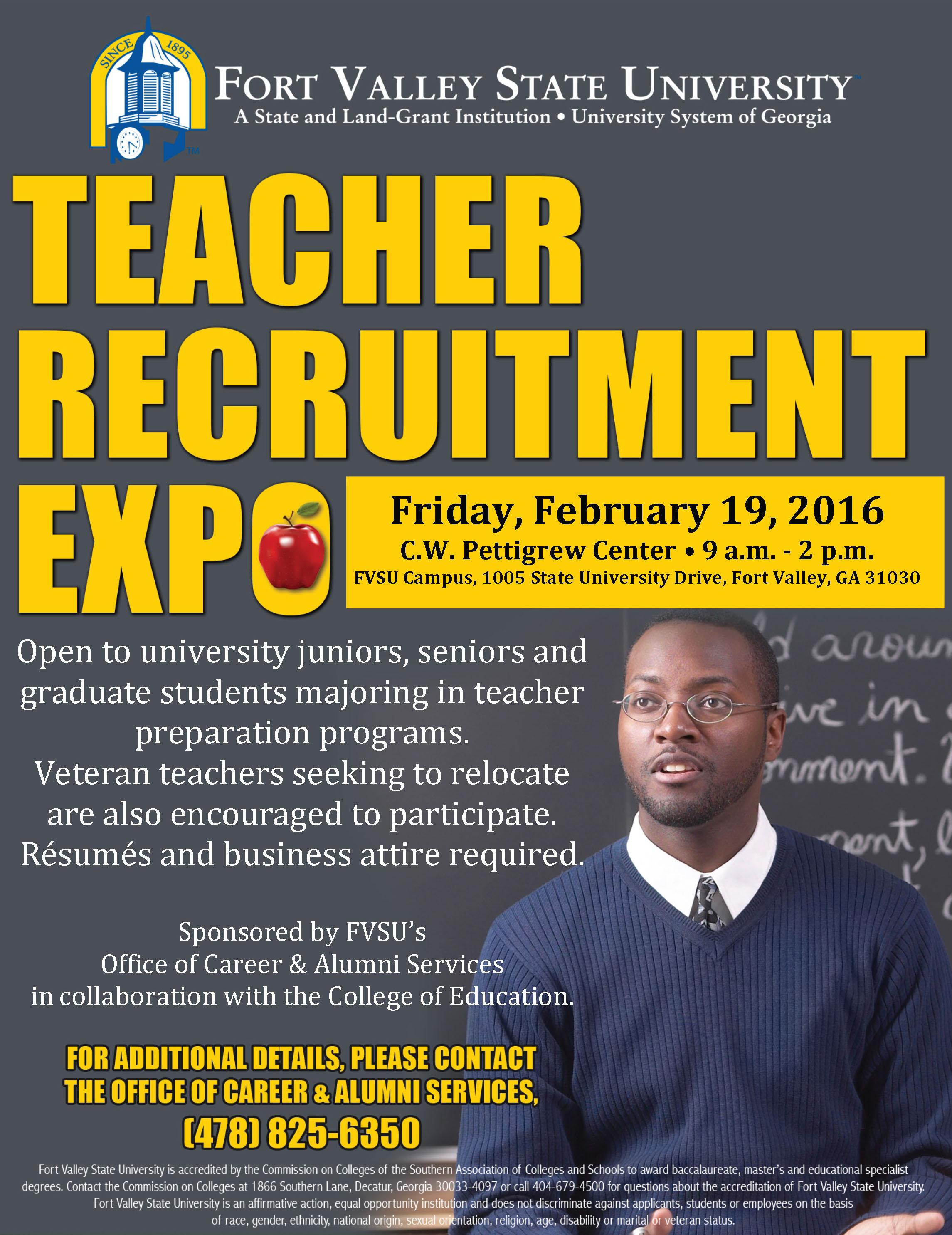 Teacher Recruitment 2016 flyer