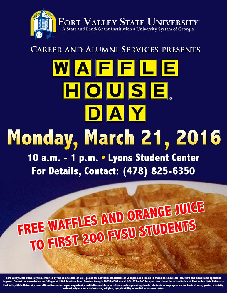 Waffle House Day Flyer