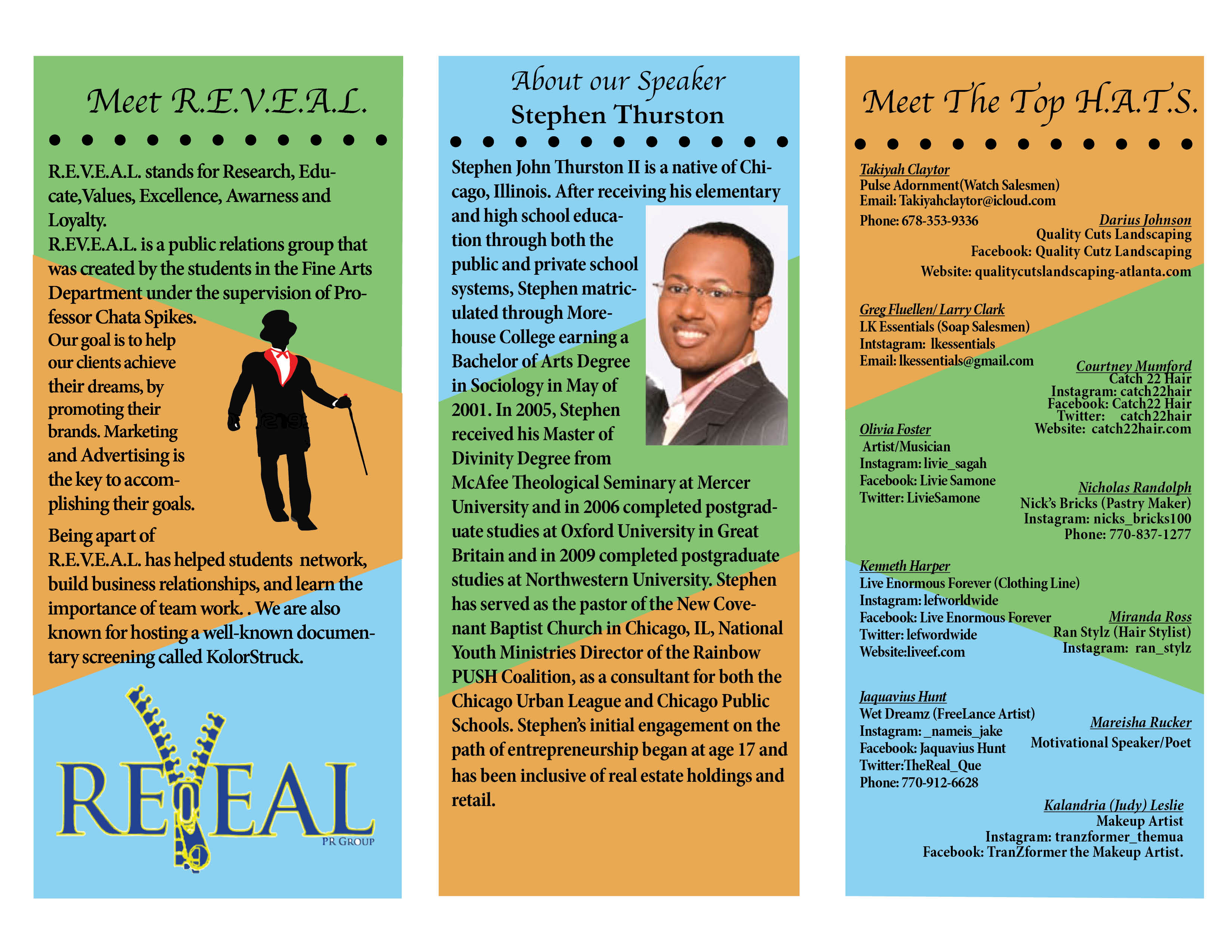 REVEAL brochure flyer