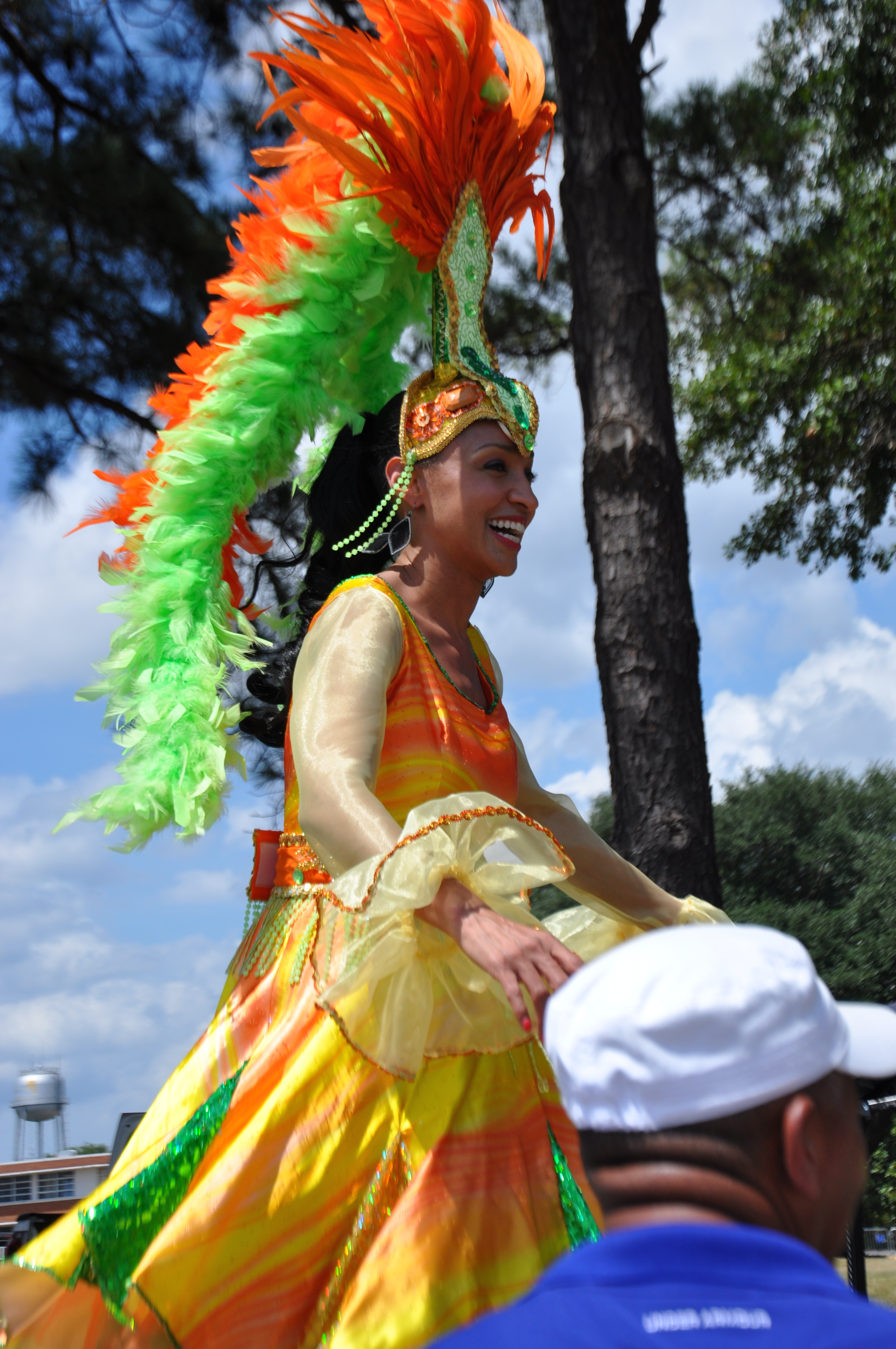 FVSU soccer festival stilt dancer
