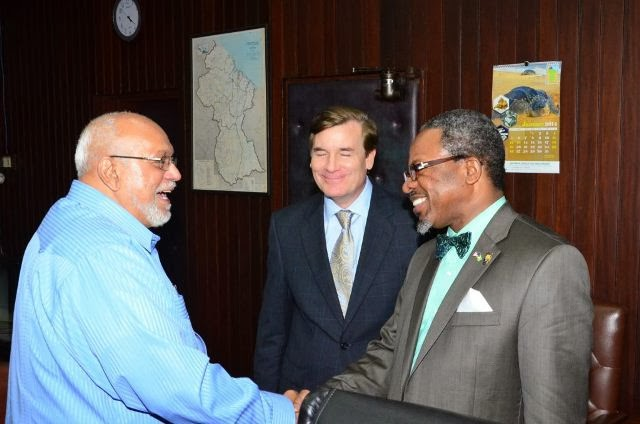 Dr. Ivelaw Lloyd Griffith meets with president of Guyana.