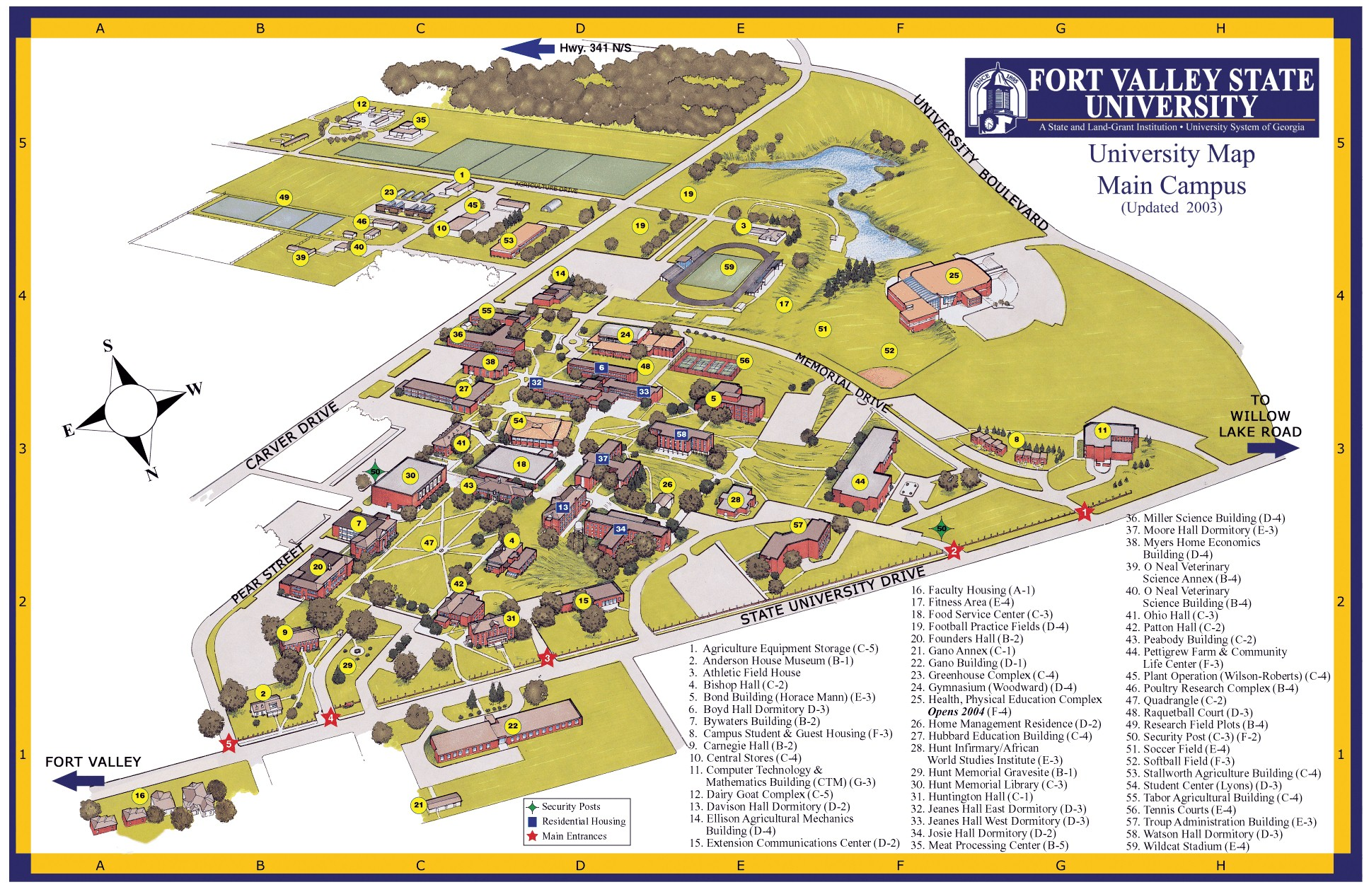 Campus Map Fort Valley State University