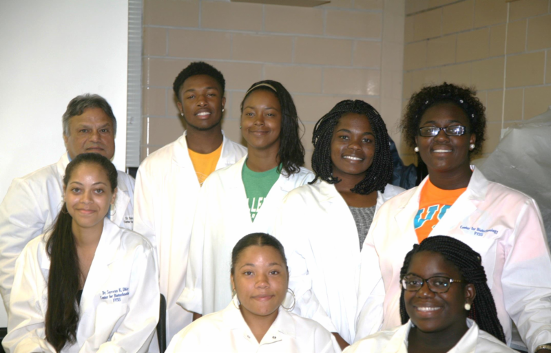 FVSU biotechnology students that completed internships in the summer of 2015.