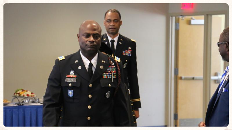 Lt. Col Joel Davis steps down as Wildcat Battalion leader during Change of Command Ceremony..