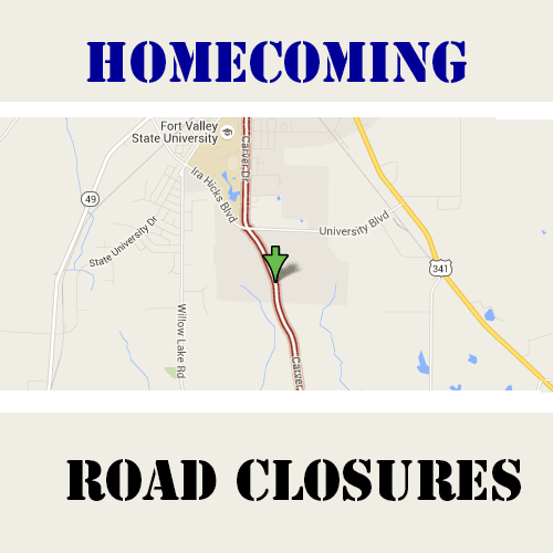 Home Coming Road Closures Flyer