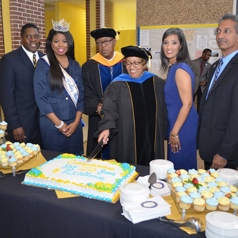Cake Cutting for the 120th Anniversary for FVSU.