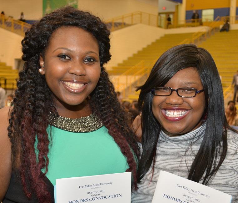 FVSU students at Honors Convocation.