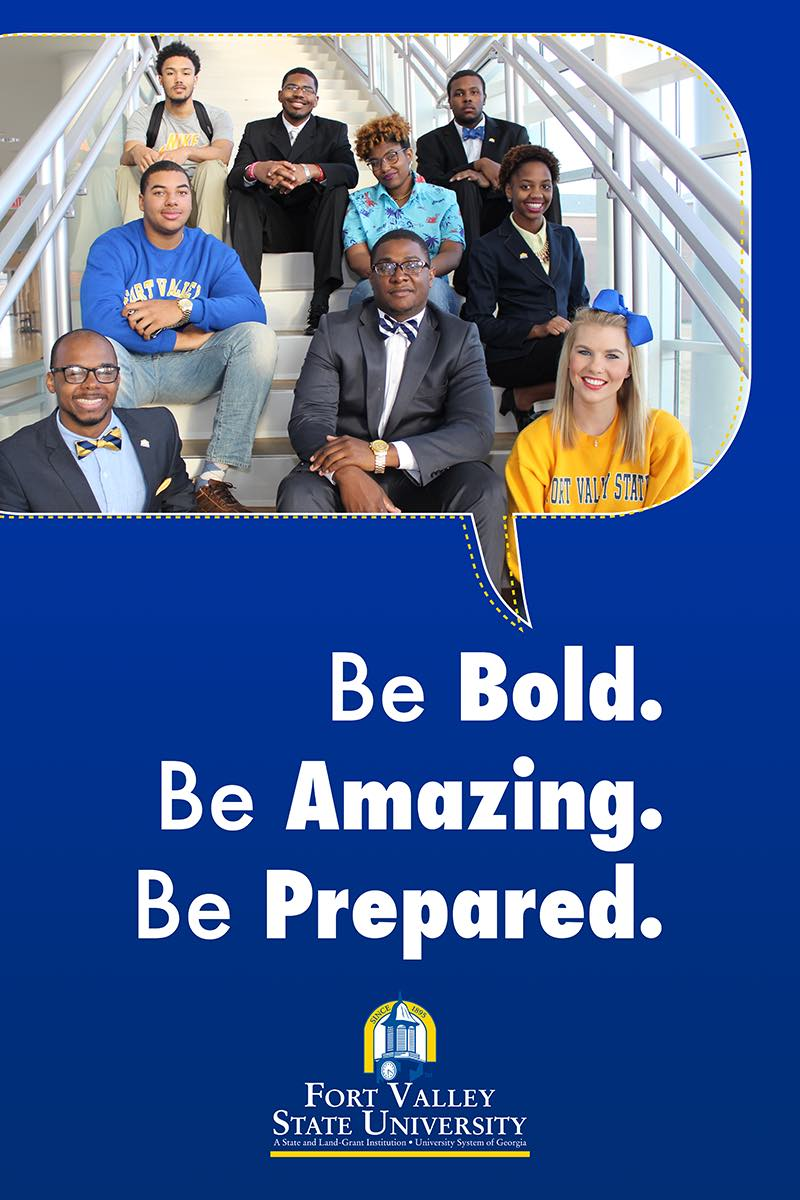 Be Bold, Be Amazing, Be prepared flyer.