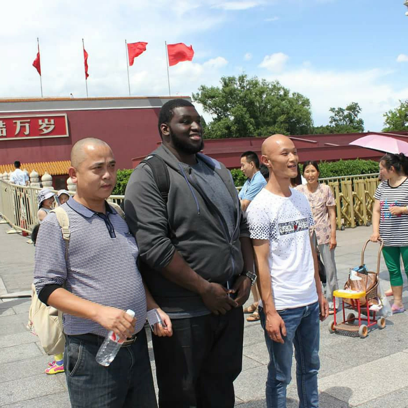 FVSU student Brian Cornish in China
