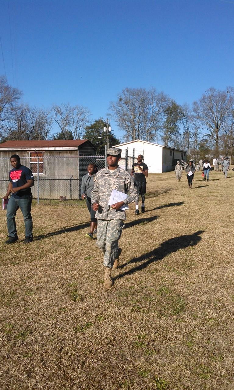 ROTC training exercise.