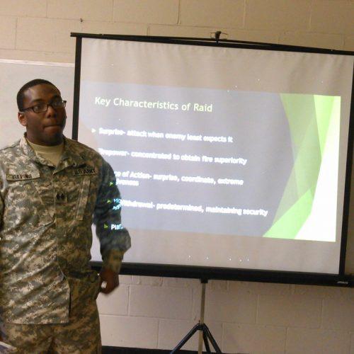 ROTC training activity lead by Gavins.