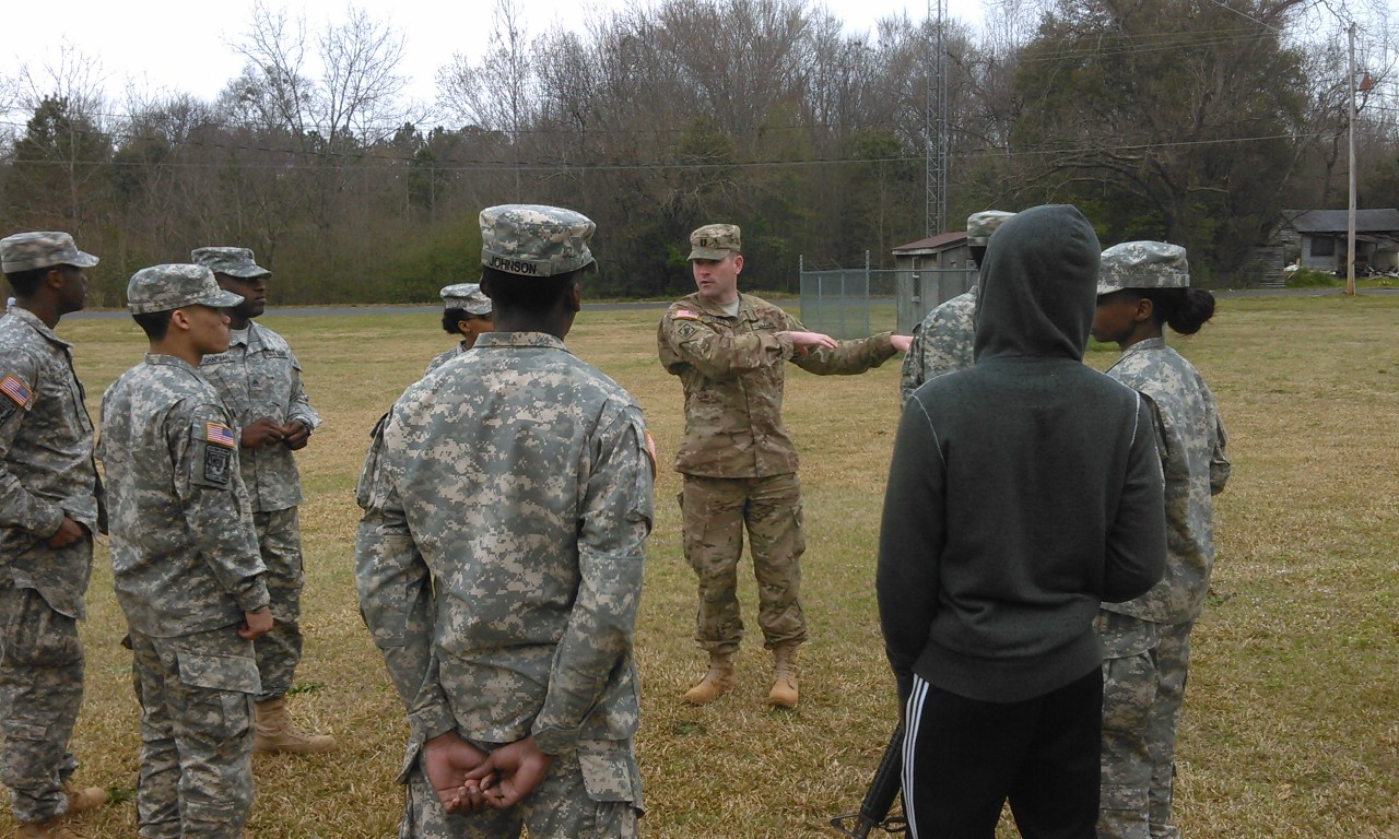 ROTC training activity in the field.
