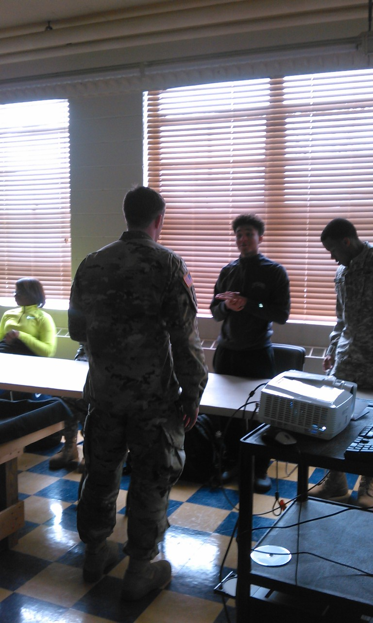 ROTC student asks question.