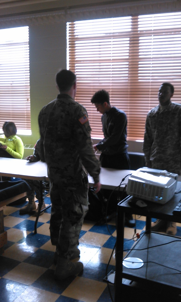 ROTC students inside the classroom.