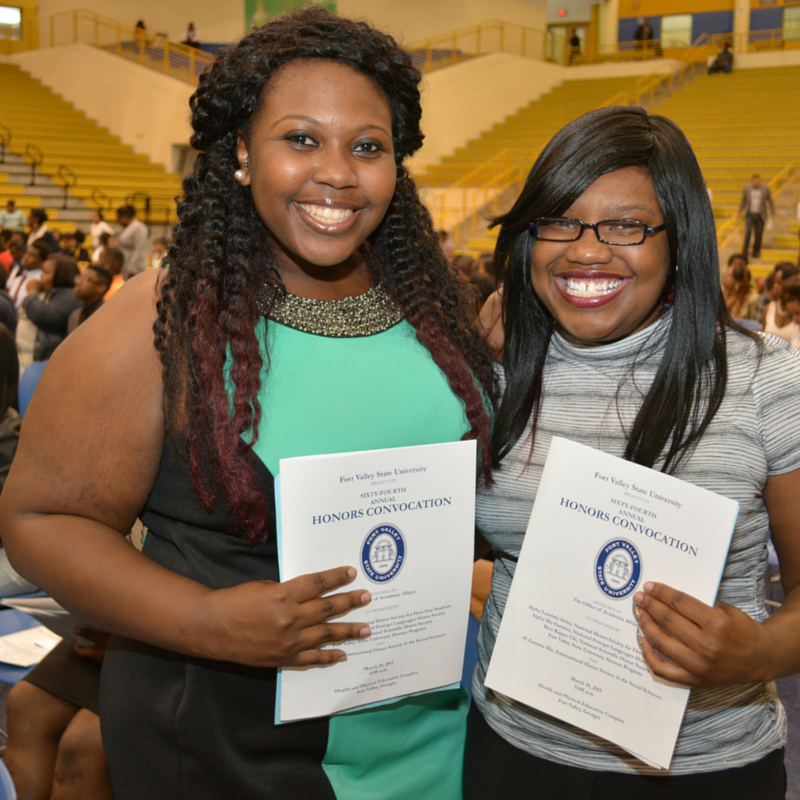 Students at the 2015 Honors Convocation.