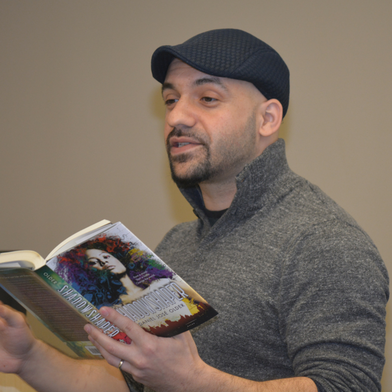 Caption: Daniel Jose Older reads from his novel, Shadowshaper.