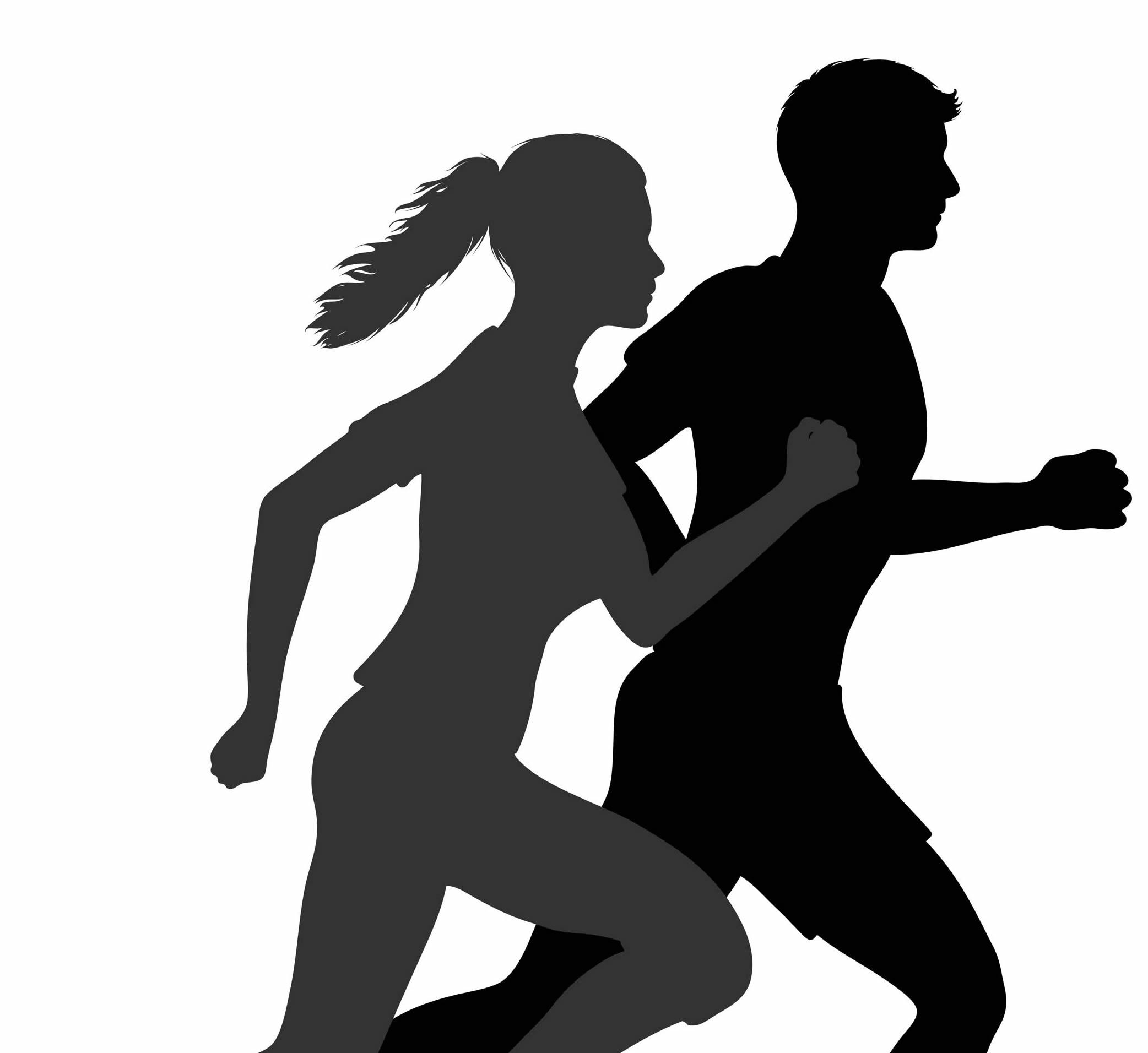 Art of runners jogging.