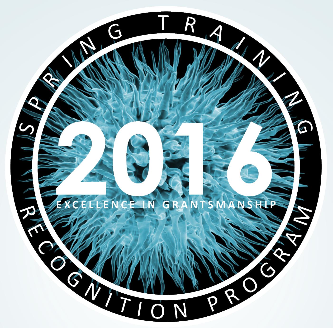 Logo for 2016 Spring Training Recognition Program.