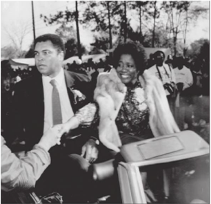 Muhammad Ali in 1989 homecoming parade