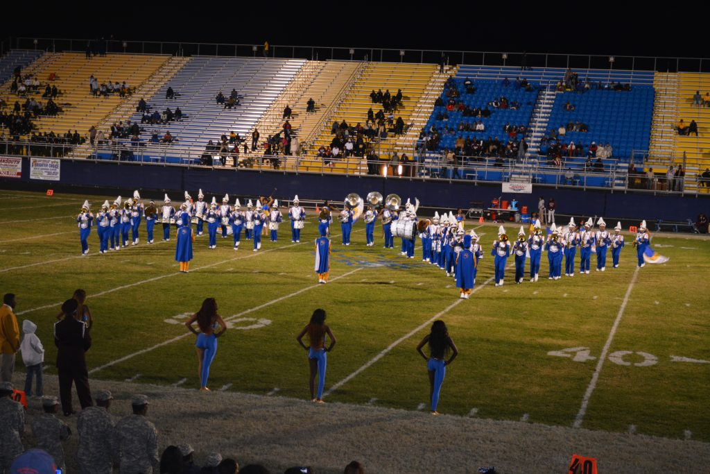 fvsu blue machine marching band