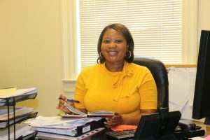 Dr. LaVasa Parks in her FVSU office.