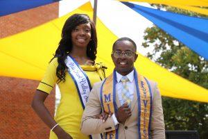 Miss FVSU Ayauna A. Ellis and Mr. FVSU Charles Waller, III