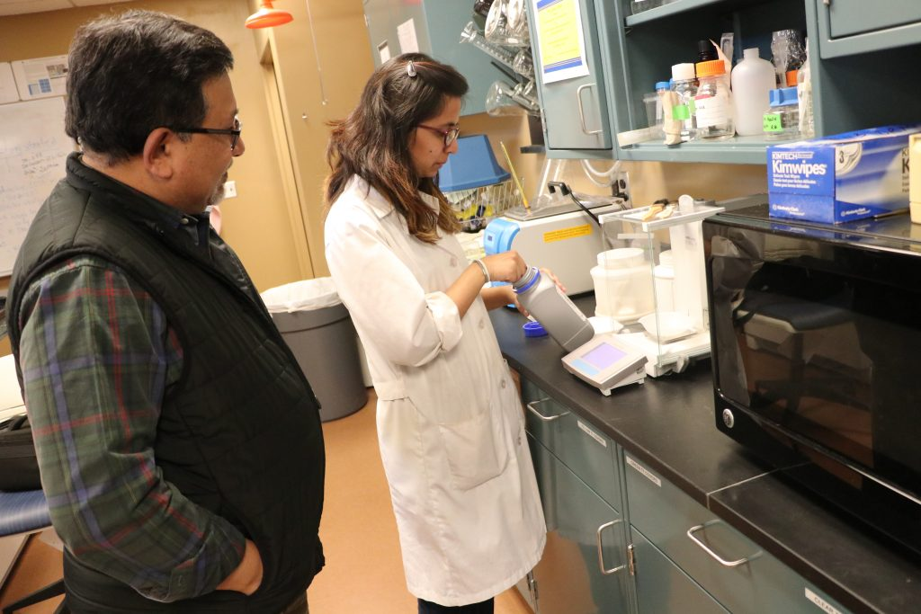 Joshee in biotechnology lab