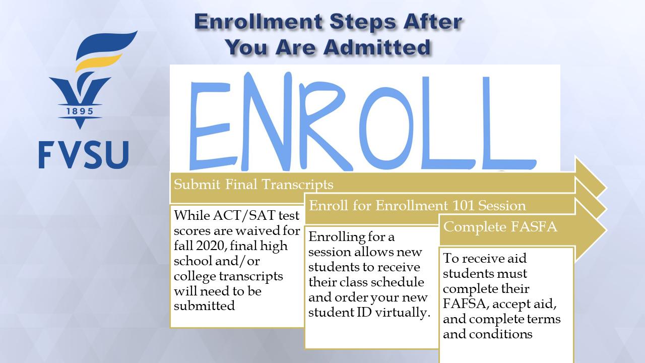 Next Steps to Enroll
